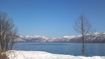 ~支笏湖を眺める~